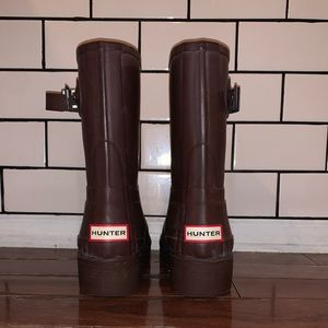 Barely used hunter boots